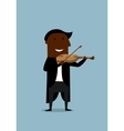 Musician violinist playing a violin vector image vector image