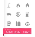 natural gas icon set vector image vector image