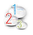 One two three paper progress steps for tutorial vector image