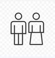 outline couple man and woman icon isolated on vector image vector image