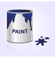 paint can blue eps10 vector image