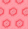 pattern ikat pink vector image vector image