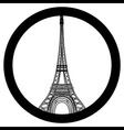Peace for Paris symbol Eiffel Tower Pray for the vector image vector image