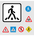 pedestrian sign vector image