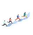 people run on arrow reaching target concept vector image