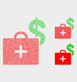pixel medical business case icons vector image vector image