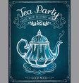 retro time for tea with teapot vector image vector image