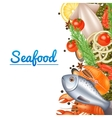 Seafood Menu Background vector image vector image
