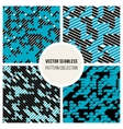 Seamless Random Parallel Lines Pattern vector image
