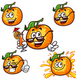 set cartoon character - Happy orange vector image vector image