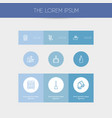 set of 9 editable cleaning outline icons includes vector image vector image