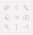 set of medicine icons line style symbols with baby vector image