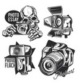 set photographer emblems vector image vector image