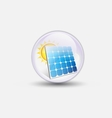 solar cell bubble water clear vector image vector image