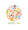 summer time frame vector image