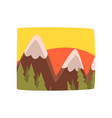 sunrise in the mountains beautiful summer vector image vector image