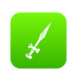 sword icon simple black style vector image vector image