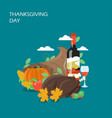 Thanksgiving day flat style design