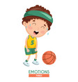 tired kid emotion vector image