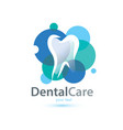 tooth stylized symbol logo or emblem template vector image vector image