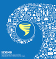 Tornado icon Nice set of beautiful icons twisted vector image