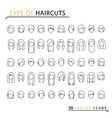type of haircuts vector image vector image