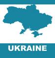 ukraine map on white background flat vector image vector image