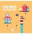 Food order Online shopping e-commerce mobile vector image
