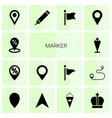 14 marker icons vector image vector image