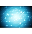Abstract shiny blue tech background vector image vector image