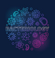 bacteriology round colored in vector image
