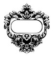 baroque mirror frame square victorian vector image