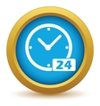 Best gold clock icon vector image vector image