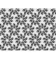 Black lace pattern vector image vector image