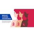 breast cancer awareness month usa banner women vector image vector image