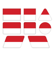 buttons with flag of Monaco vector image