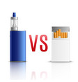 Cigarettes vs vaping realistic vector image