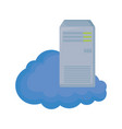 cloud computing with tower server vector image vector image