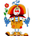 clown purim vector image vector image