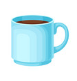coffee beverage poured in carton cup isolated vector image vector image