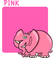Color Pink and Elephant Cartoon vector image vector image