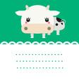 Cute friendly cow vector image vector image