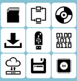 Data Icons Set vector image vector image
