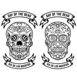 day dead dia de los muertos set the vector image vector image