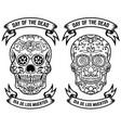 day of the dead dia de los muertos set of the vector image vector image