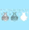 doodle set with taurus zodiac symbol vector image vector image