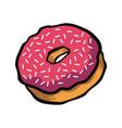 doughnut cartoon icon vector image vector image