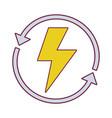 energy hazard symbol with arrows around vector image vector image