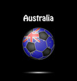 flag of australia in the form of a soccer ball vector image