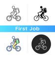 food delivery person icon vector image vector image